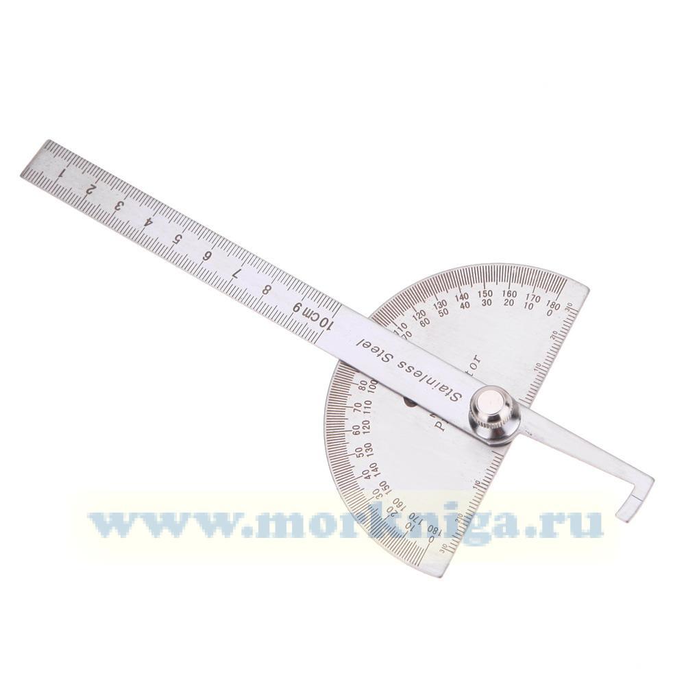 Протрактор стальной 10 см
