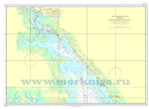 Карта Рыбинского водохранилища (для плавания)
