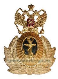 Кокарда ВМФ, офицерская (большой якорь, герб с поднятыми крыльями)