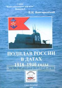 Подплав России в датах 1918-1940 годы