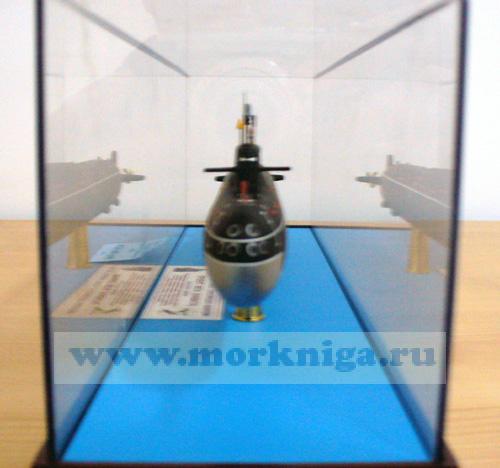 """Макет атомной подводной лодки проекта 667 А """"Навага"""". Класс НАТО - ЯНКИ-1. (Масштаб 1:400)"""