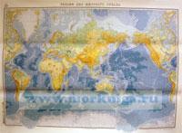 Карта рельеф дна Мирового океана. Адм. № 9504