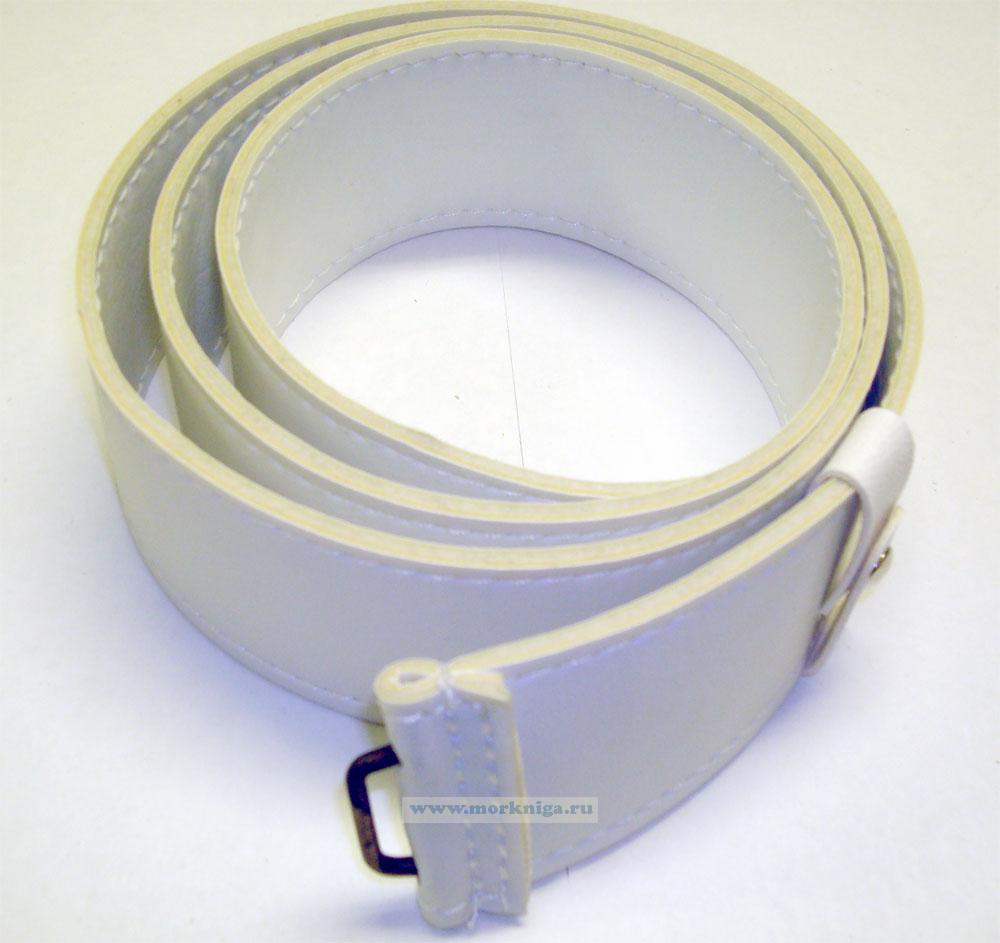 Ремень солдаский (матросский) парадный (без пряжки, белый, искусственная кожа. р.2)