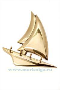 Вешалка-яхта латунная