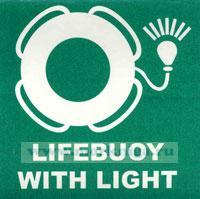 Знак ИМО. Спасательный круг со светящимся буем (007)