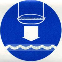 Знак ИМО. Место спуска спасательной шлюпки на воду (110)