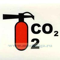 Знак ИМО. Углекислотный огнетушитель (196)