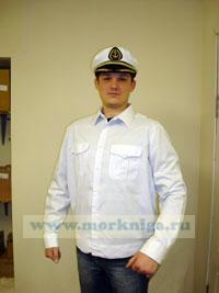 Рубашка белая ВМФ, офицерская с длинным рукавом 164-170(42-4)