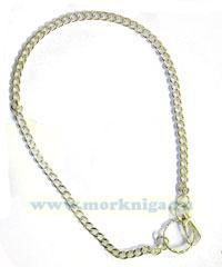 Цепочка для ключей, звенья средние точёные, длина 55-57 см