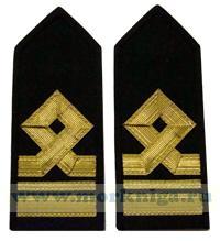 Погоны Второго помощника капитана морского флота. 7 должностная категория