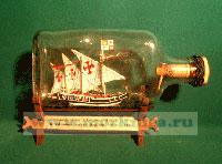 Корабль в бутылке. Каравелла Колумба «Нинья»