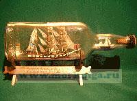 Корабль в бутылке. Военный барк XIX века