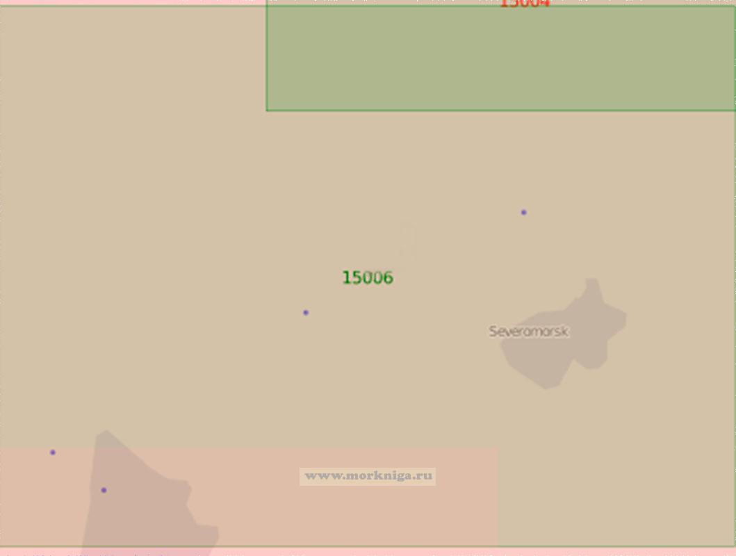 15006 Среднее колено Кольского залива (Маштаб 1:25 000)
