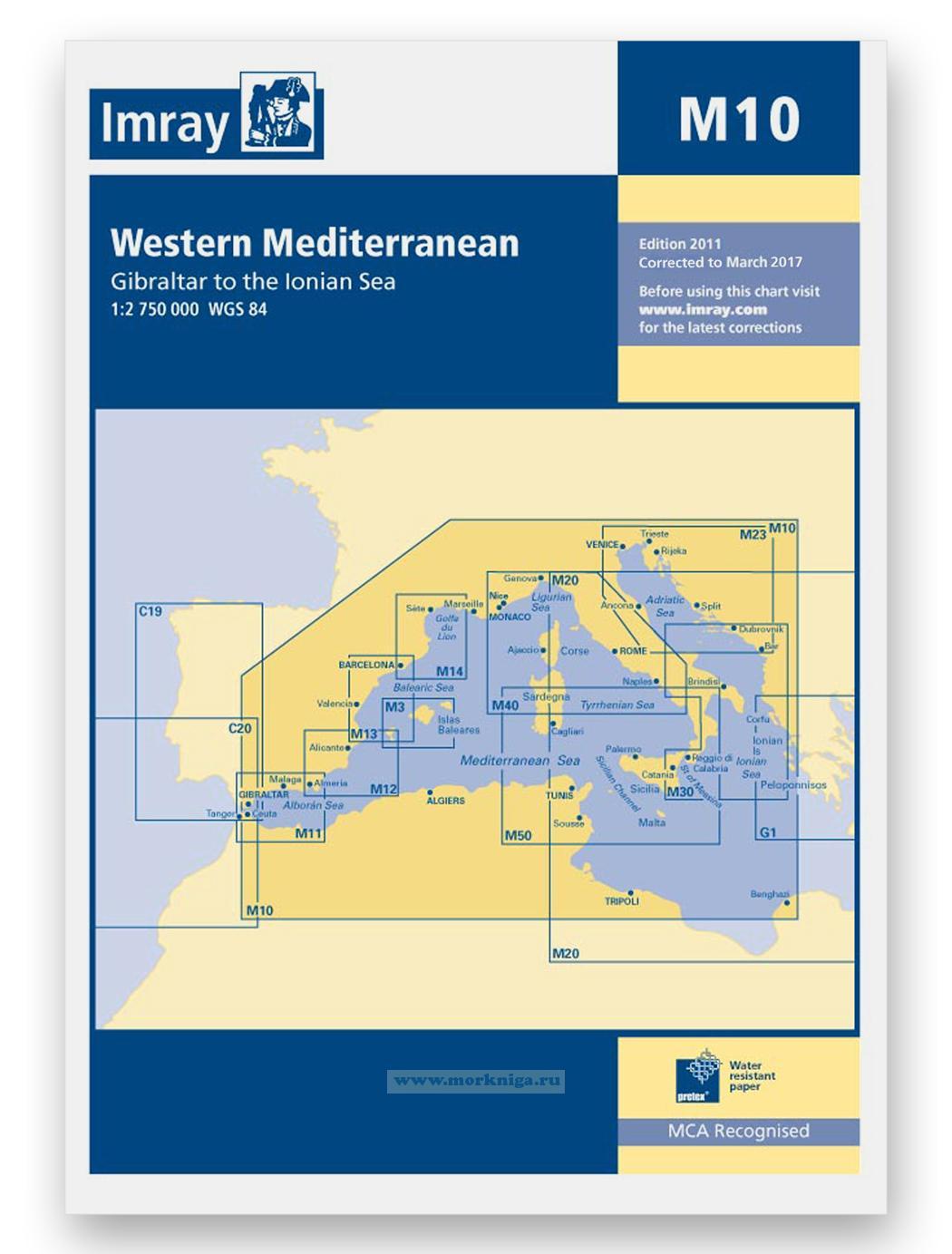 M10 Western Mediterranean Западное Средиземноморье (1:2 750 000)