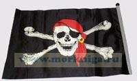 Флаг пиратский 14х20
