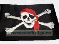Флаг пиратский 40х60