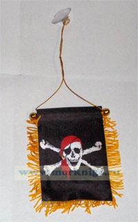 Вымпел пиратский на присоске