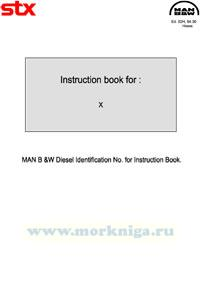 MAN B & W Diesel Indentification NO for instruction book