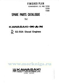 Spare parts catalogue for Kasawaki MAN 52/55A Diesel Engines