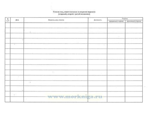 Журнал контроля качества и расхода масла