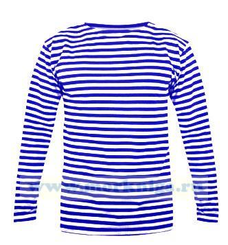 Тельняшка с длинным рукавом (лонгслив) голубая полоса (ВДВ)