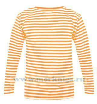 Тельняшка с длинным рукавом (лонгслив) оранжевая полоса (МЧС)
