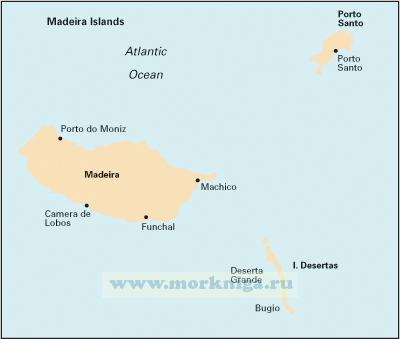 E3 Arquipelago da Madeira Архипелаг Мадейра (1:170 000)