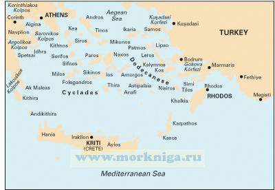 G3 Aegean Sea (South) Эгейское море (юг) (1:750 000)