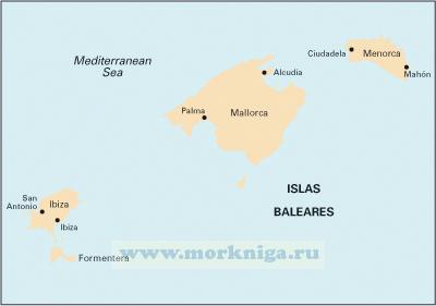 M3 Islas Baleares Балеарские острова (1:350 000)