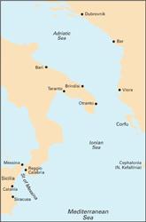 M30 Southern Adriatic and Ionian Seas Южное Адриатическое и Ионическое моря (1:850 000)