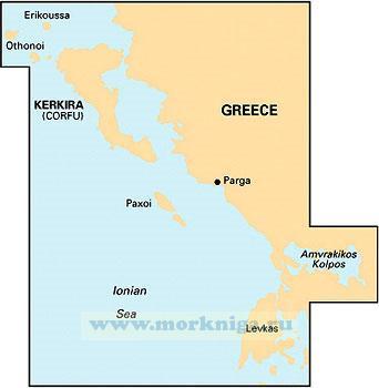 G11: Греция: Ионическое море, Керкира - Лефкас, 1:185,000 WGS 84 редакция - июнь 2011