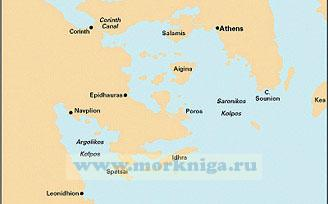 G14 Saronic and Argolic Gulfs Саронический и Арголический заливы (1:190 000)