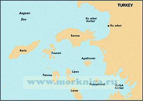 G32 Eastern Sporades, Dodecanese and the Coast of Turkey Восточные Спорадические, Додеканические острова Греции и побережье Турции (1:200 000)