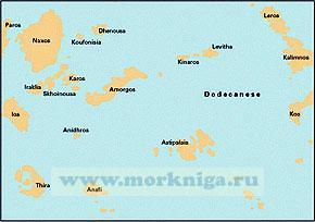 G34: Греция: Южные Киклады, 1:200,000 WGS 84