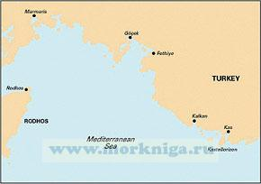 G36 Marmaris to Kekova Adasi От Мармариса до острова Кекова (1:200 000)