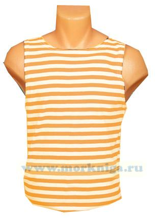 Тельняшка-майка оранжевая полоса (МЧС)
