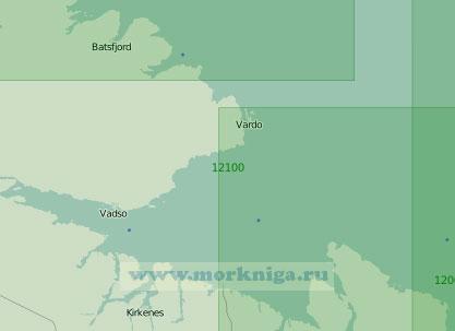 12100 От мыса Кульнесет до мыса Цыпнаволок с заливом Варангер-фьорд (Масштаб 1:200 000)