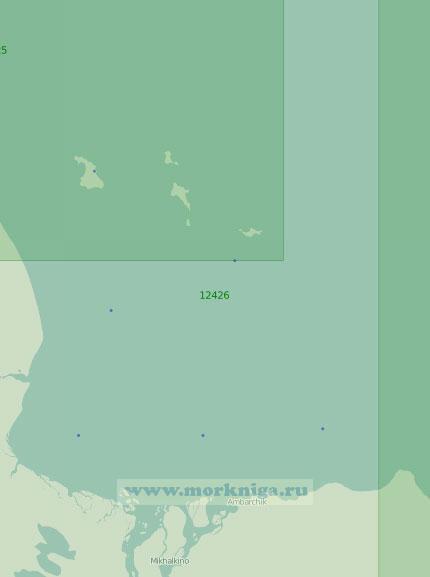 12426 От мыса Крестовый до мыса Большой Баранов с Медвежьими островами (Масштаб 1:200 000)