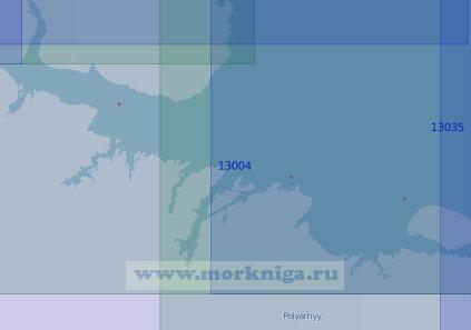 13004 От маяка Цыпнаволокский до острова Кильдин с Мотовским заливом (Масштаб 1:100 000)