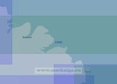 13102 От маяка Хьёльнес до островов Вардё (Масштаб 1:100 000)