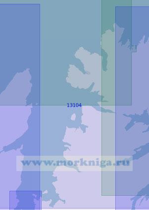 13104 Залив Лаксе-фьорд (Масштаб 1:100 000)