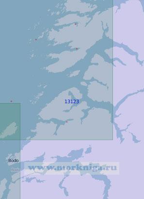 13123 Салт-фьорд и залив Фолла (Масштаб 1:100 000)