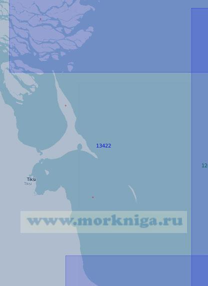 13422 Подходы к бухте Тикси и Быковской протоке реки Лена (Масштаб 1:100 000)