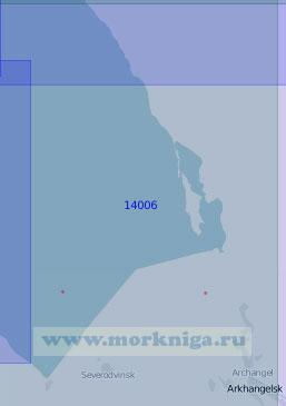 14006 От мыса Керец до мыса Голец с портом Архангельск (Масштаб 1:100 000)