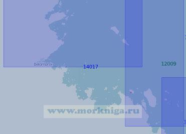 14017 От острова Титлуда до Шуерецкой губы с островами Большой и Малый Жужмуй (Масштаб 1:100 000)