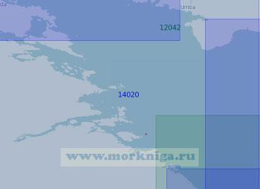 14020 Южная часть Кандалакшского залива (Масштаб 1:100 000)