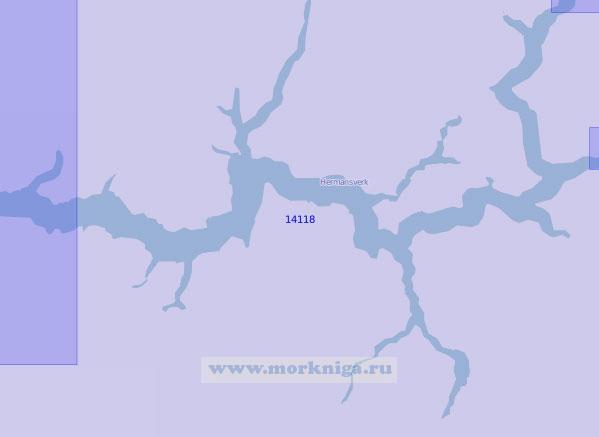 14118 Средняя и восточная части Согне-фьорда (Масштаб 1:100 000)