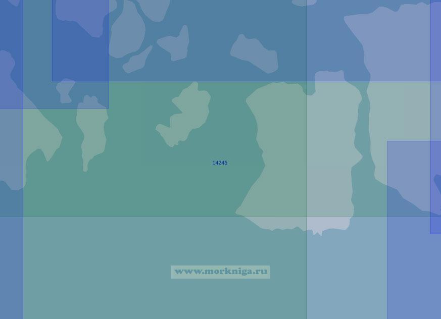 14245 Проливы Аллена Юнга, Сидорова и Абердэра (Масштаб 1:100 000)