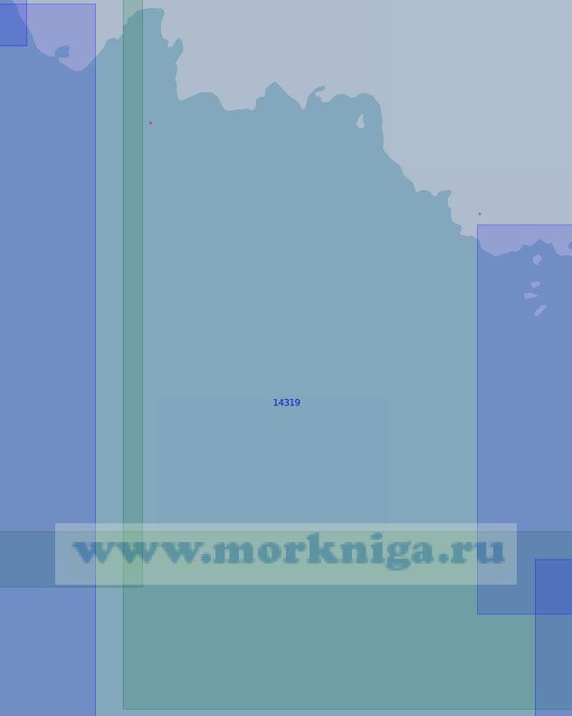 14319 От островов Опасные до мыса Медный (Масштаб 1:100 000)