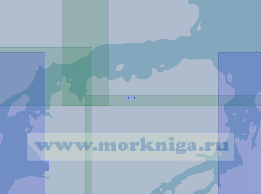 14323 Восточная часть пролива Красной Армии с фьордом Матусевича (Масштаб 1:100 000)